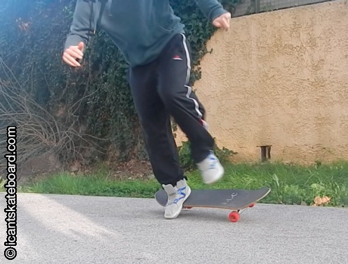 failed ollie falling skateboard